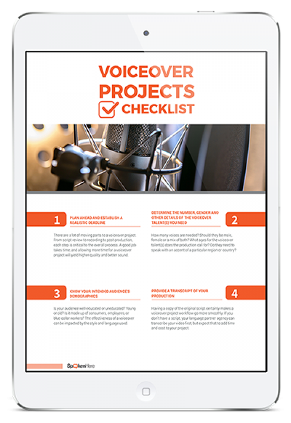 Voiceover Project Checklist